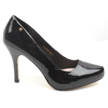 KATE APPLEBY GLANTON COURT SHOE - BLACK PATENT