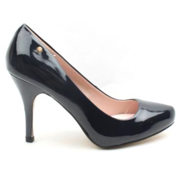 KATE APPLEBY GLANTON COURT SHOE - NAVY PATENT