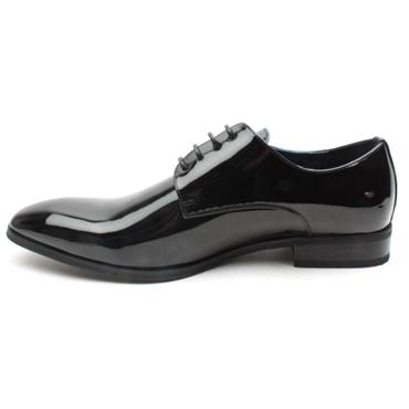 GOOR-190 LACED SHOE - BLACK PATENT