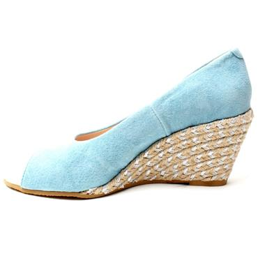 KATE APPLEBY GUANA PEEP TOE SHOE - BLUE
