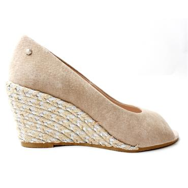 KATE APPLEBY GUANA PEEP TOE SHOE - SAND
