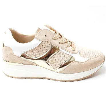 LLOYD AND PRYCE HALE SHOE - BEIGE MULTI