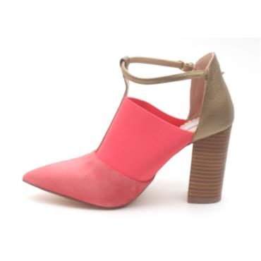 AMY HUBERMAN HALF MAGIC SHOE - CORAL