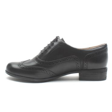 CLARKS HAMBLEOAK LACED BROGUE - BLACK D