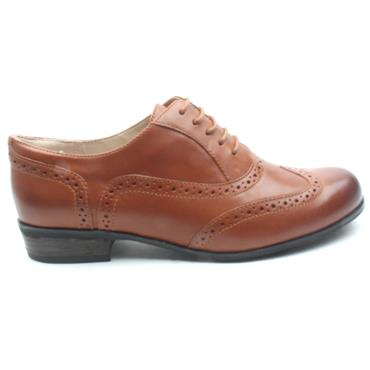 CLARKS HAMBLEOAK LACED BROGUE - DARK TAN D