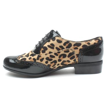 CLARKS HAMBLEOAK LACED BROGUE - LEOPARD