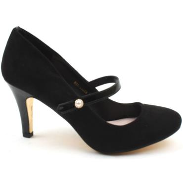 KATE APPLEBY HARPENDEN STRAP SHOE - BLACK SUEDE
