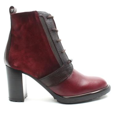 HISPANITAS HI99136 LACED BOOT - BURGUNDY