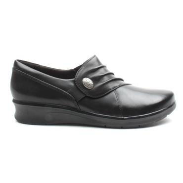 CLARKS HOPE ROXANNE SLIP ON - BLACK D