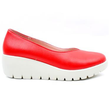 KATE APPLEBY HOVE WEDGE SHOE - RED