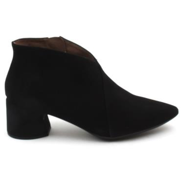 WONDERS I8021 ANKLE BOOT - BLACK SUEDE