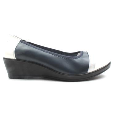INEA IDOLE WEDGE POMP - NAVY MULTI