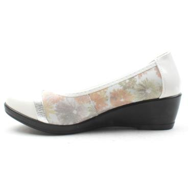 INEA IDOLE WEDGE POMP - WHITE MULTI
