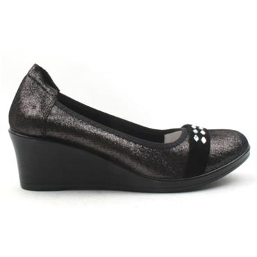 INEA ISIS WEDGE SHOE - Black