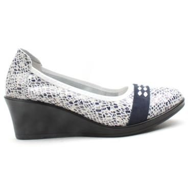 INEA ISIS WEDGE SHOE - NAVY MULTI