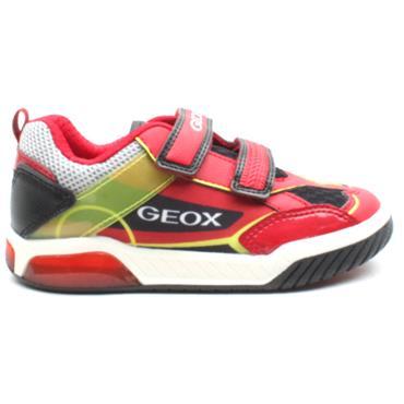 GEOX J029CA INEK VELCRO RUNNER - RED MULTI