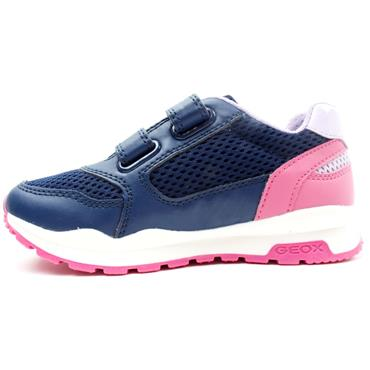 GEOX J048CA PAVEL JUNIOR RUNNER - NAVY PINK