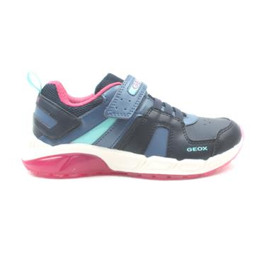 GEOX J04DAA SPAZIALE JUNIOR RUNNER - NAVY PINK
