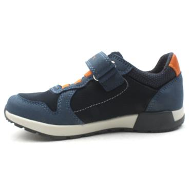 GEOX J846NC ALFIER JUNIOR RUNNER - NAVY ORANGE