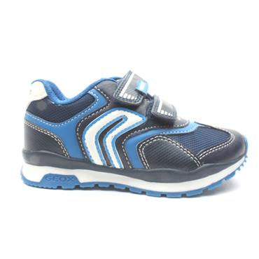 GEOX J9415A JUNIIOR RUNNER - NAVY/WHITE
