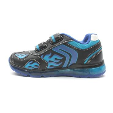 GEOX J9444C VELCRO RUNNER - BLACK BLUE