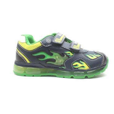 GEOX J9444C VELCRO RUNNER - NAVY GREEN
