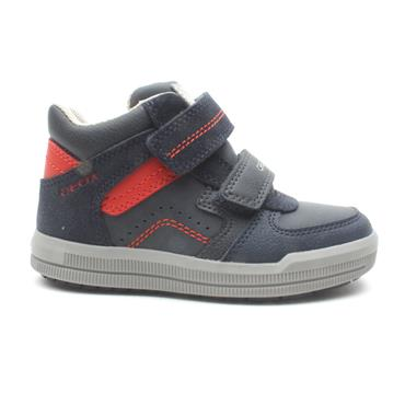 GEOX J944AB VELCRO JUNIOR BOOT - NAVY/RED