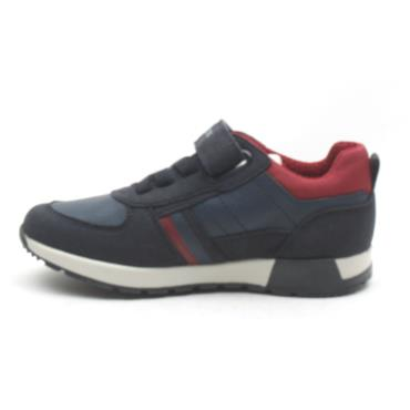 GEOX J946NA VELCRO SHOE - NAVY/RED