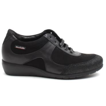 MEPHISTO JACINTE WEDGE LACED - Black