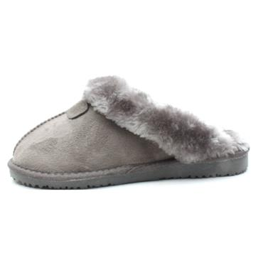 ELLA JILL FUR SLIPPER MULE - GREY