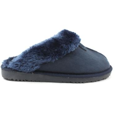 ELLA JILL FUR SLIPPER MULE - NAVY