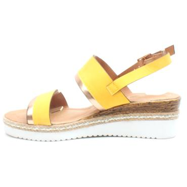 LUNAR JLC157 CASHEW WEDGE SANDAL - YELLOW
