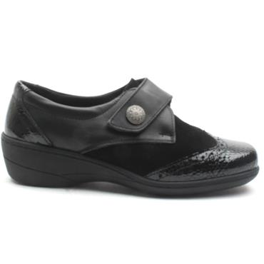 SOFTMODE VELCRO JO EE FIT - Black