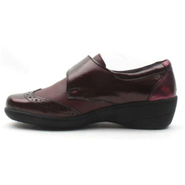 SOFTMODE VELCRO JO EE FIT - BURGUNDY