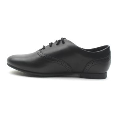 CLARKS JULES WALK LACED SHOE - BLACK F