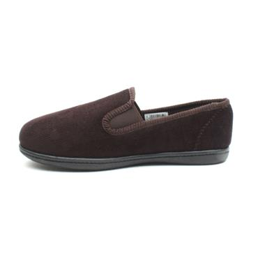 CLARKS KINGTWIN MENS SLIPPER - BROWN G
