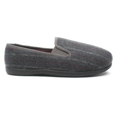 CLARKS KINGTWIN MENS SLIPPER - GREY G