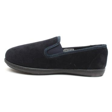CLARKS KINGTWIN FABRIC SLIPPER - NAVY G