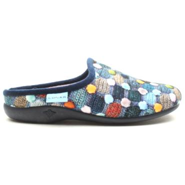 LUNAR KLA096CRACKLE SLIPPER MULE - BLUE