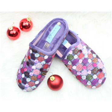 LUNAR KLA096CRACKLE SLIPPER MULE - PURPLE