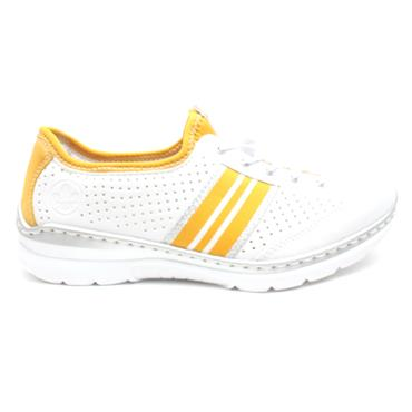 RIEKER L32R0 LACED SHOE - WHITE