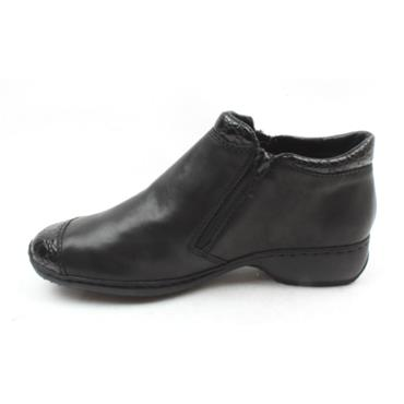 RIEKER L3862 ZIP BOOT - BLACK/BLACK