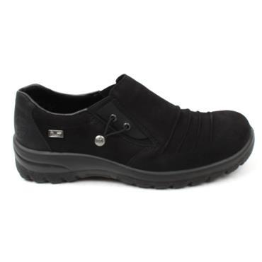 RIEKER L7154 TEX SHOE - BLACK/BLACK