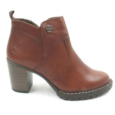 RIEKER L9283 ANKLE BOOT - DARK TAN