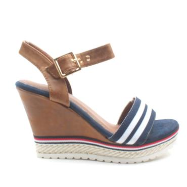 ESCAPE LARGOTWO WEDGE SANDAL - NAVY