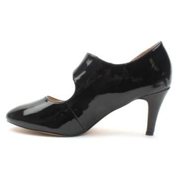 LOTUS LAURANA STRAP SHOE - BLACK PATENT