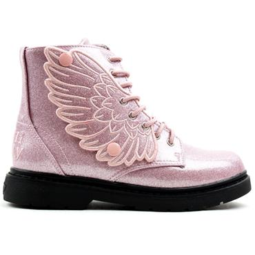 LELLI KELLY LK4544 LACED BOOT - PINK SPARKLE