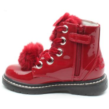 LELLI KELLY LK6520 LACED BOOT - RED PATENT