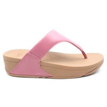 FIT FLOP LULU LEATHER TOE POST - PINK
