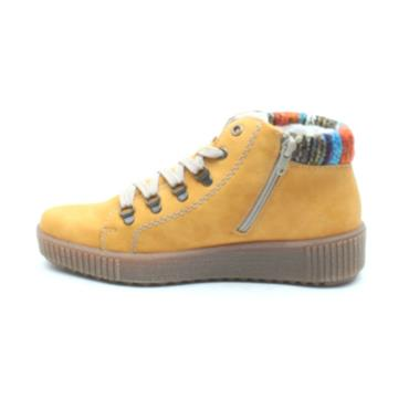 RIEKER M6411 LACED CASUAL BOOT - HONEY